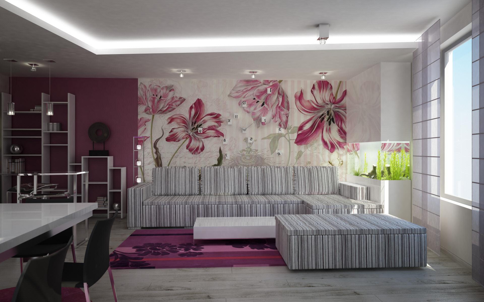 Einfach Wohnzimmergestaltung In Beige Braun Und Full Size